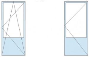Балконные дверные блоки с деревянной филенкой3. : распашная – 9950 руб/кв.м, поворотно-откидная – 10170 руб/кв.м
