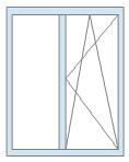 Двухстворочное деревянное окно по цене 7500 руб/кв.м